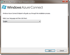 Windows Azure Connect endpoint installer