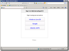 Sign in using AppFabric