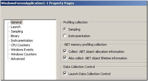Profiling property pages
