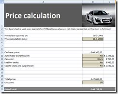 Price calculation