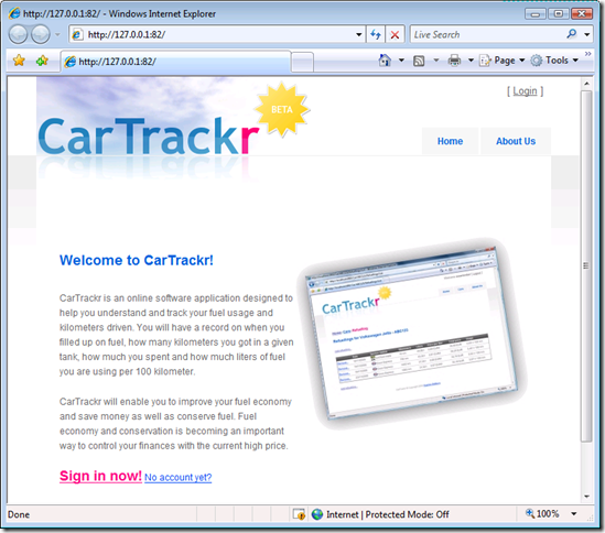 CarTrackr in the cloud!