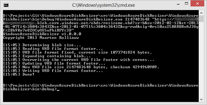 Tales from the trenches: resizing a Windows Azure virtual disk the