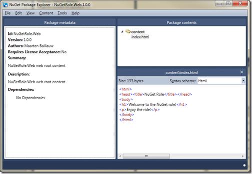 NuGet Package Explorer MyGet NuGet NuGetRole Azure
