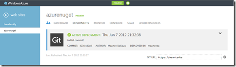 Windows Azure Git Deploy