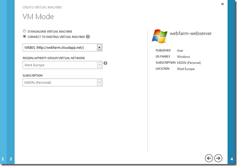 Connect to an existing virtual machine in Windows Azure