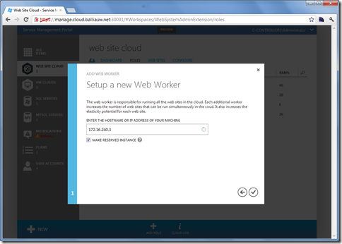 Windows Azure Services for Windows Server - Adding a role