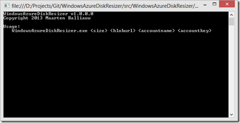 Resize windows azure VM disk