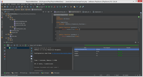 Running PHPUnit in PhpStorm