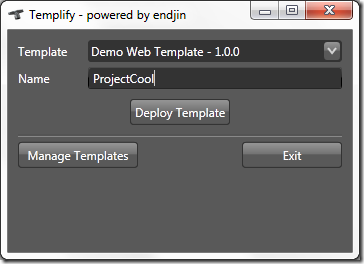 Templify Deploy Template